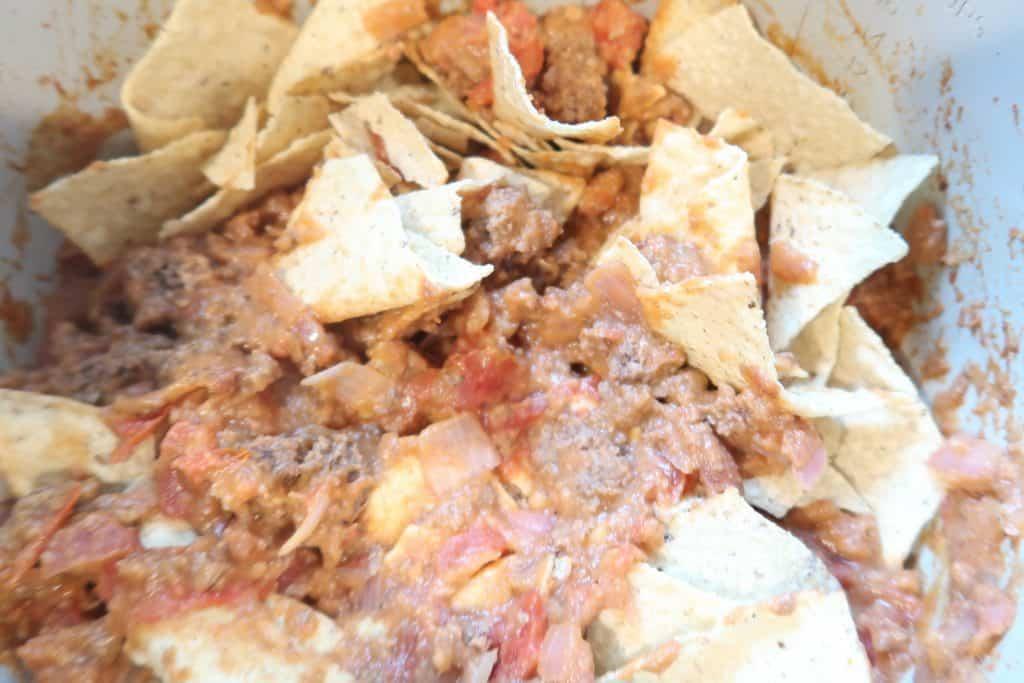 upside down ninja foodi tacos