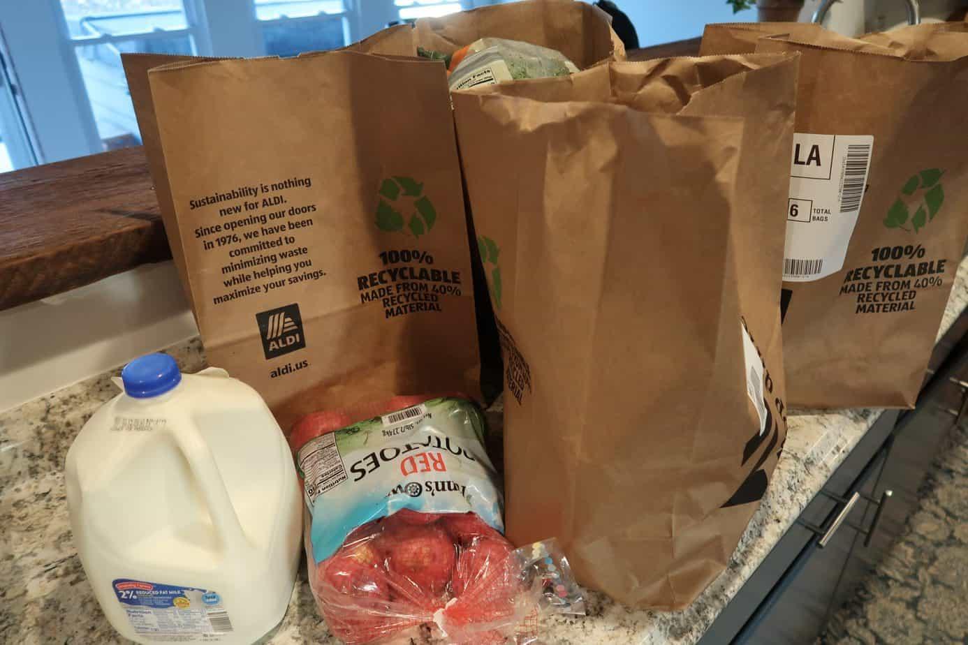 aldi grocery pickup with realplans