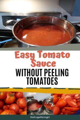tomato sauce without peeling tomatoes
