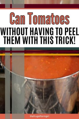 how to can tomato sauce without peeling tomatoes