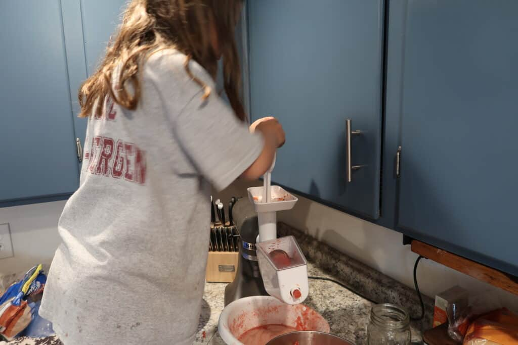 using kitchenaid food strainer for tomatoes