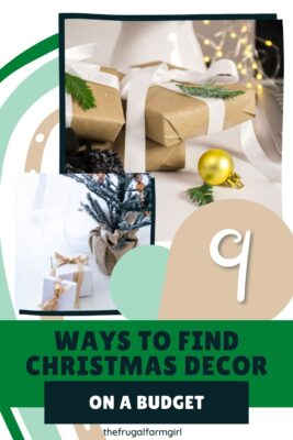 how to find christmas decor on a budget