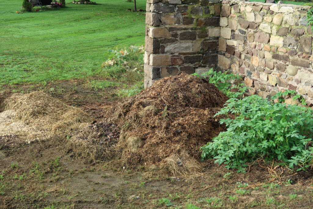 compost pile frugal farm girl