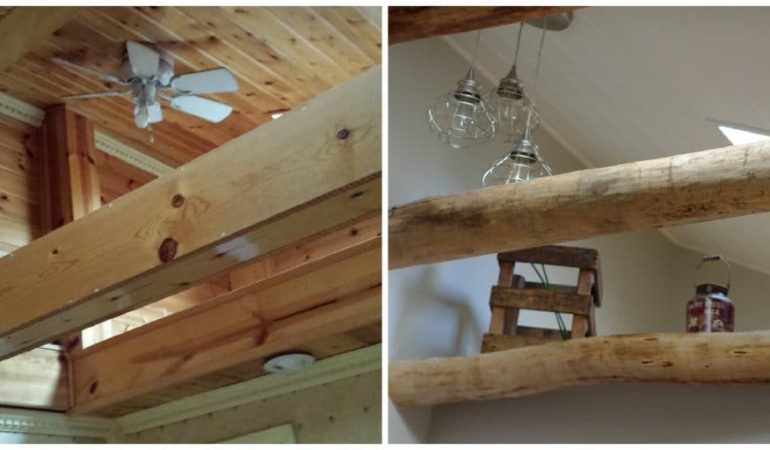 How We Used Barn Beams in our Farmhouse (Our Dining Room ...